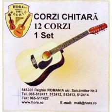 Corzi chitara acustica 12 corzi set Hora Reghin