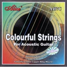 Corzi chitara acustica colorate Alice A407C