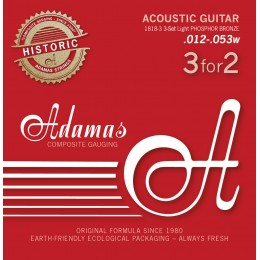 Corzi chitara acustica Adamas Historic Ph Br .012-.053w