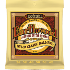 Corzi chitara clasica Ernie Ball Earthwood Folk Nylon Clear & Gold Ball End