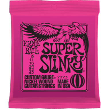 Corzi chitara electrica Ernie Ball Nickel Wound Super Slinky 9-42