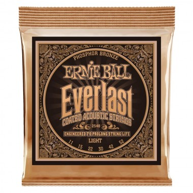 Corzi chitara acustica Ernie Ball Everlast Coated Ph Br Light 11-52