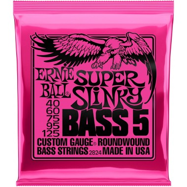 Corzi chitara electrica bass 5 corzi Ernie Ball Nickel Wound Super Slinky 40-125