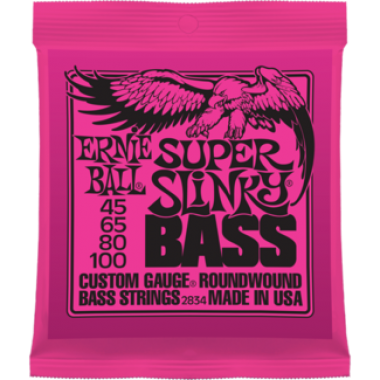 Corzi chitara electrica bass Ernie Ball Nickel Wound Super Slinky 45-100