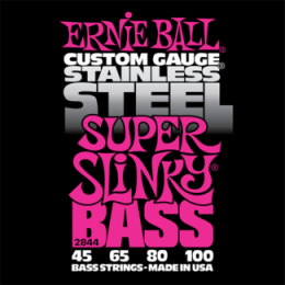 Corzi chitara electrica bass Ernie Ball Stainless Steel Super Slinky 45-100
