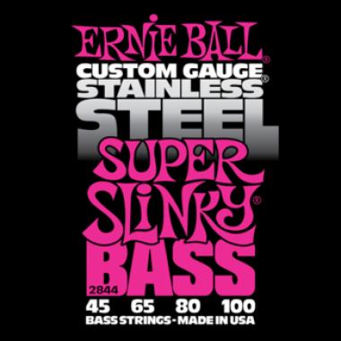 Corzi chitara electrica bass Ernie Ball Stainless Steel Super Slinky 45-100