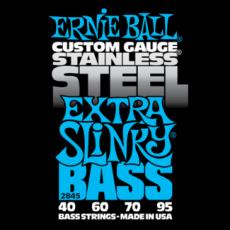 Corzi chitara electrica bass Ernie Ball Stainless Steel Extra Slinky 40-95