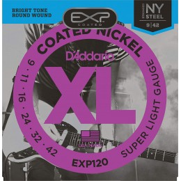 Corzi chitara electrica D'Addario EXP120 Super Light 9-42
