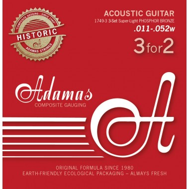 Corzi chitara acustica Adamas Historic Ph Br .010-.047w