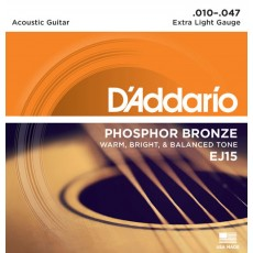 Corzi chitara acustica D'Addario EJ15 Phosphor Bronze