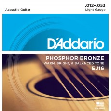 Corzi chitara acustica D'Addario EJ16 Phosphor Bronze