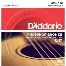Corzi chitara acustica D'Addario EJ17 Phosphor Bronze