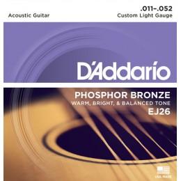 Corzi chitara acustica D'Addario EJ26 Phosphor Bronze