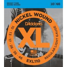 Corzi chitara electrica D'Addario EXL110 Nickel Wound
