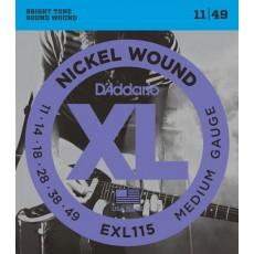 Corzi chitara electrica D'Addario EXL115 Nickel Wound