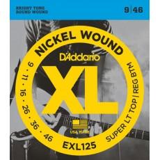 Corzi chitara electrica D'Addario EXL125 Nickel Wound