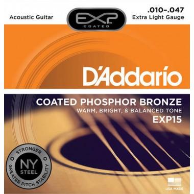 Corzi  chitara acustica D'Addario EXP15 Phosphor Bronze