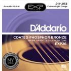 Corzi chitara acustica D'Addario EXP26 Phosphor Bronze