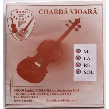 Corzi vioara 1/2  Cr-Ni set Hora Reghin