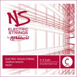 Coarda vioara electrica 5 (Do) D'Addario NS