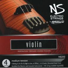 Corzi vioara electrica D'Addario NS