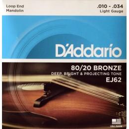 Corzi mandolina D'Addario EJ62 80/20 Bronze