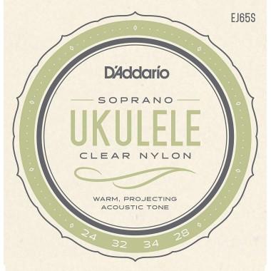 Corzi ukulele sopran D'Addario EJ65S