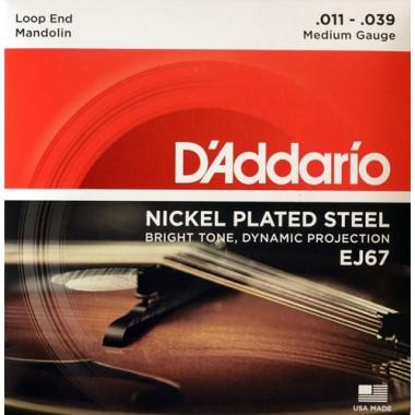 Corzi mandolina D'Addario EJ67 Nickel