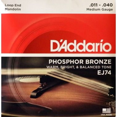 Corzi mandolina D'Addario EJ74 Phosphor Bronze