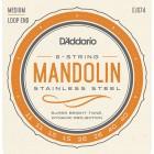 Corzi mandolina D'Addario EJS74 Stainless Steel