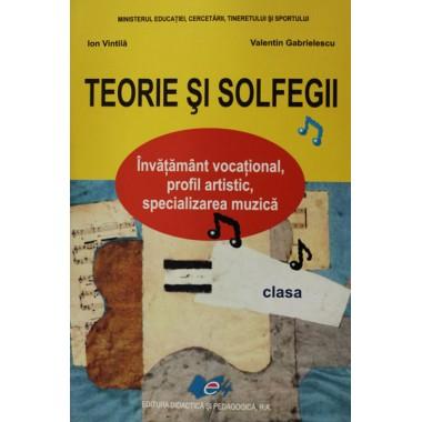 Teorie si Solfegii, manual pt. clasa a III-a