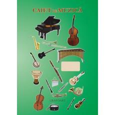 Caiet de muzica A4 24 file