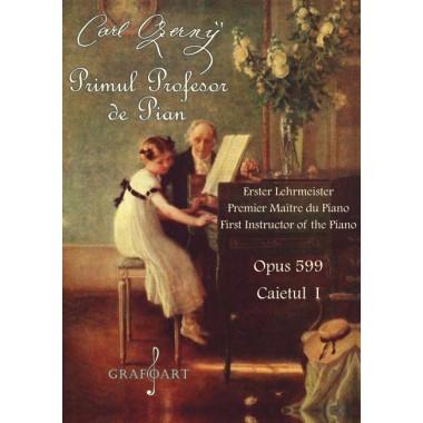 Set Czerny - Primul profesor de pian (Caietele 1+2)